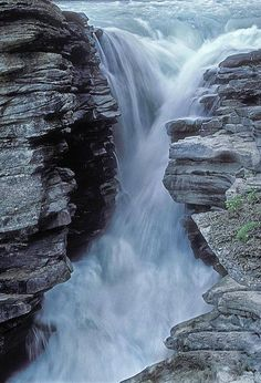"""Kicking Horse River ~Yoho National Park, Canada ~ by Sandra Bronstein ~ Mik's Pics """"Nature Scenes lV"""" board Beautiful Waterfalls, Beautiful Landscapes, Famous Waterfalls, Yoho National Park, National Parks, Places To Travel, Places To See, Places Around The World, Around The Worlds"""