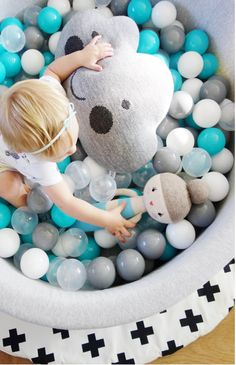 Mini Be Ball Pit - Bright Mint - The Modern Nursery