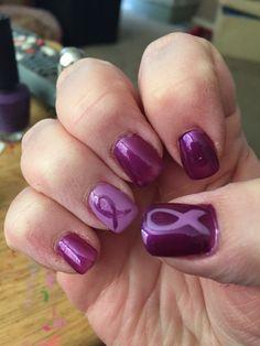 Relay for Life nail art
