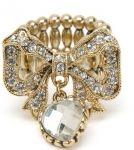 Betsey Johnson RHINESTONE BOW STRETCH RING ~ love!