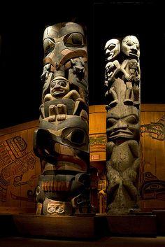 The totem poles at the Royal BC Museum in Victoria, British Columbia. #explorebc. Photo: Flickr via kristaeleman