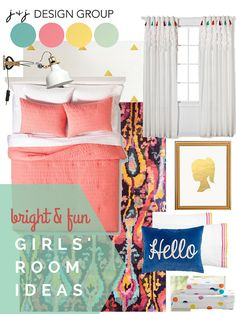 HGTV fan Sandy needed fun yet practical kids' rooms for her 4 children. See what designers @JoGick and @JenO came up with, starting with the girls' rooms >> http://blog.hgtv.com/design/2015/06/25/hgtv-design-fix-colorful-kids-room-ideas-from-j-j-designs/?soc=pinterest #HGTVDesignFix