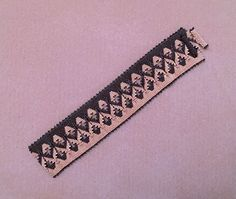 Royal Fortress Bracelet - pattern from the 2015 August/September issue of Beadwork