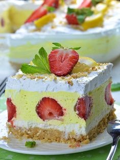 Strawberry Lemonade Lasagna is quick and easy NO BAKE dessert recipe with only few ingredients for light and refreshing summer treat!!! This irresistible, delicious dessert lasagna looks so festive, bright and fancy enough to show up at your Easter table.