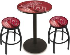 Oklahoma Sooners D2 Black Pub Table Set. Available in two table widths. Visit SportsFansPlus.com for Details.