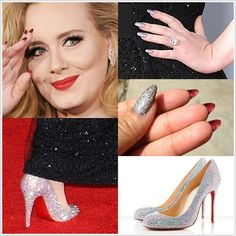 Adele's nails - love this for Valentine's day!