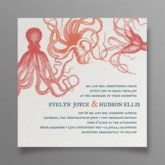 Group Hug Wedding Invitation  Octopus and by ThingsandStuffEvents, $5.00