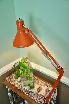 A personal favorite from my Etsy shop https://www.etsy.com/listing/526054973/vintage-orange-articulating-desk-lamp