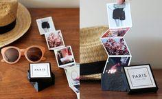 que le puedo regalar a mi mejor amiga, pequeño album con fotos en una caja con incsripción Paris Thank You Gifts, Corporate Gifts, Bff, Book Art, Usb Flash Drive, Origami, Gift Wrapping, Paris, Birthday