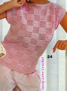 Super Crochet Top Pullover Pattern Crochet Top Pattern Donna Summer Beach Pattern-PDF … - Uncinetto - Motivi Per Uncinetto Débardeurs Au Crochet, Pull Crochet, Gilet Crochet, White Crochet Top, Crochet Patron, Crochet Blouse, Crochet Slippers, Love Crochet, Crochet Stitches