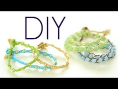 DIY Boho ArmCandy Wrap Bracelets {Easy} How to Make (+playlist) Diy Friendship Bracelets Tutorial, Diy Bracelets Easy, Bracelet Tutorial, Gypsy Jewelry, Beaded Jewelry, Handmade Jewelry, Beaded Bracelets, Wrap Bracelets, Bohemian Bracelets
