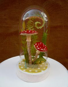 Paper Mache Terrarium by Katie Runnels. Gorgeous!