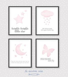 Little princess print Baby girl nursery decor by LaSardinaRosa