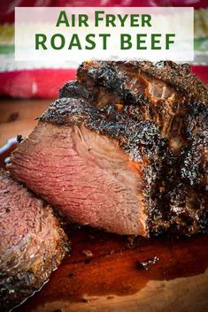 Air Fryer Roast Beef - with Herb Crust makes the most delicious tender and juicy roast ever. Air Fryer Roast Beef - with Herb Crust makes the most delicious tender and juicy roast ever. Easy Roast Beef Recipe, Cooking Roast Beef, Roast Beef Recipes, Deer Steak Recipes, Oven Roast Beef, Tender Roast Beef, Ribeye Roast, Pot Roast, Air Fryer Oven Recipes