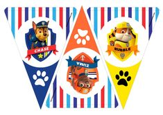 Happy Birthday Leo, Bear Birthday, 4th Birthday, Birthday Parties, Paw Patrol Birthday Theme, Paw Patrol Party, Imprimibles Paw Patrol, Zuma Paw Patrol, Paw Patrol Decorations