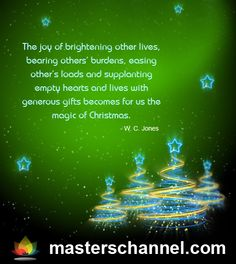 The joy of brightening other lives...