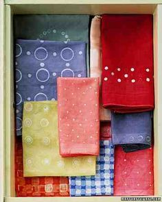 According to Indonesian folklore, certain motifs on traditional batik cloths bring good health. Our improvised patterns -- made with successive impressions of different-size icing tips, blocks, and dowels -- promise only to brighten a tabletop.