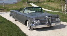 1959 Edsel Corsair Convertible My Da wanted one of these in Ford Company, Ford Motor Company, American Classic Cars, Old Classic Cars, Vintage Cars, Antique Cars, Convertible, Car Tv Shows, Edsel Ford