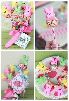 peep bunny bouquet tutorial with free printable- I would also wrap each bunny in clear wrap