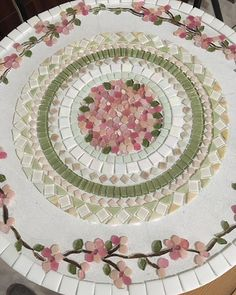 Best 12 12 inch Vintage Pink Roses Bouquet Floral Art Designer Mosaic Tile Set Tesserae Handmade Dinnerware Plates Dishes Flowered Mosaics – Page 419608890280105914 – SkillOfKing. Mosaic Tile Designs, Mosaic Tile Art, Mosaic Pots, Mosaic Artwork, Mosaic Crafts, Mosaic Projects, Mosaic Patterns, Mosaic Glass, Mosaic Table Tops