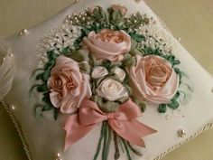 Wonderful Ribbon Embroidery Flowers by Hand Ideas. Enchanting Ribbon Embroidery Flowers by Hand Ideas. Ribon Embroidery, Ribbon Embroidery Tutorial, Embroidery Patterns, Embroidery Thread, Shirt Embroidery, Ribbon Art, Ribbon Crafts, Ribbon Flower, Brazilian Embroidery