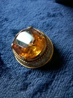 Vintage Brooch, Sphinx, Amber Glass, Faceted, Vintage Jewellery, Costume Jewelry, Vintage Pin, Gifts for Her by TillyofBloomsbury on Etsy