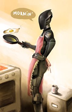 Mornin' by: Shaidis.deviantart.com on @DeviantArt// Oh I wish Zero was making breakfast for me!