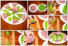 21 easy food decoration ideas you will love Food Crafts, Diy Food, Comida Diy, Vegetable Carving, Food Carving, Spicy Sausage, Food Garnishes, Garnishing, Food Displays