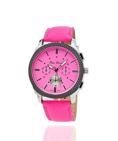 Neon Time Buckle Watch - Hot Pink  $17
