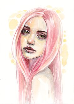 Candy - watercolor and pen on paper Shop • Facebook • Instagram • DeviantArt • Behance