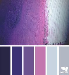 Brush stroke purples by Design Seeds