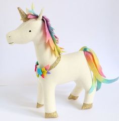 Stable Mates : horse sewing pattern unicorn pattern by ricracsews
