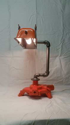 Upcycled Chevrolet parts Lamp by TanglewoodIron on Etsy