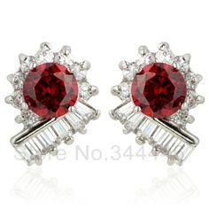 free ship Zircon earrings popular Korean version of the exaggerated retro Austrian crystal earrings $5.27
