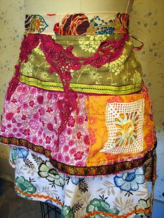 Botanical- recycled apron | Flickr - Photo Sharing!