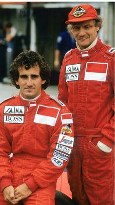 1985 Niki Lauda and Alain Prost McLaren Alain Prost, Formula 1, Jochen Rindt, Racing Events, Mclaren F1, F1 Racing, Drag Racing, Thing 1, F1 Drivers