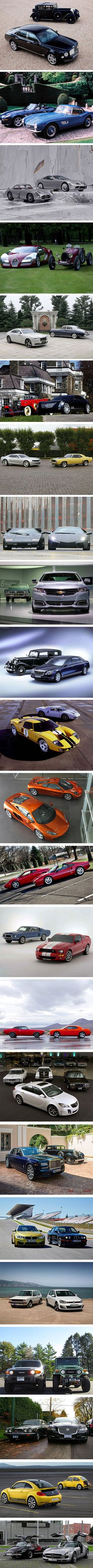Same brand of car: Then vs. Now.