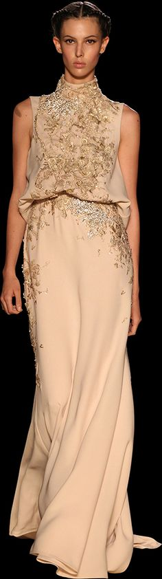 ELIE SAAB - Haute Couture - Fall Winter 2012-2013. Love this dress; nowhere to wear it, let alone afford it; love it anyway!