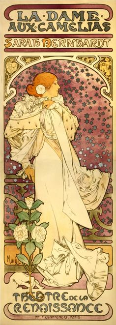 Alphonse Mucha - The Lady of the Camellias, 1896