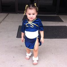 Chun Li diy cosplay costume halloween street fighter 2014 baby costumes capcom ninja