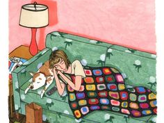 Illustrations beautifully capture the imperfect reality of women's everyday lives