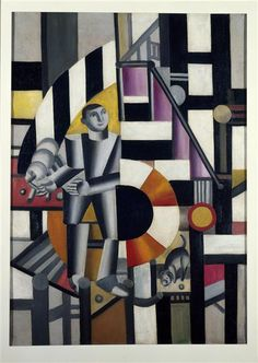 The man with the pipe, 1918 - Fernand Leger
