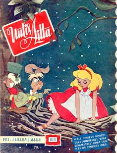 Vintage Disney Alice in Wonderland: Uutisaitta from Finland - November 10th, 1951