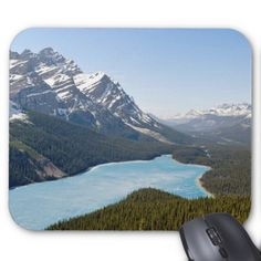 #Peyto Lake - Banff National Park Canada Mouse Pad - #office #gifts #giftideas #business