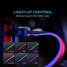 The World's First Fiber Optics HDMI Gaming RGB Light – Gameller   Gaming Gear 4k Uhd, Hdmi Cables, Gaming Setup, Above And Beyond, Fiber Optic, Light Up, Games, World, Gaming