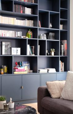 Living Room Wall Units, Living Room Shelves, Home Living Room, Living Room Decor, Home Office Design, Home Office Decor, Home Decor, Bookshelves Built In, Bookcase