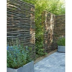 Looking for ideas to decorate your garden fence? Add some style or a little privacy with Garden Screening ideas. See more ideas about Garden fences, Garden privacy and Backyard privacy. Garden Privacy Screen, Garden Fencing, Privacy Screens, Privacy Walls, Bamboo Screen Garden, Wattle Fence, Screen Plants, Back Gardens, Outdoor Gardens
