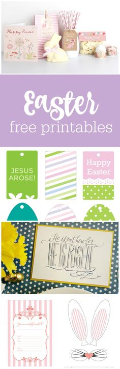 Freebie Friday: 19 Free Easter Printables 19 free Easter printables curated by The Party Teacher Easter Printables, Free Printables, Easter Banner, Easter Religious, Easter Crafts, Kids Crafts, Easter Party, Friday, Teacher