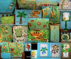 Fisher Price Rainforest Nursery And Toddler Room Bedding Decor Lighting