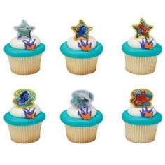 Finding Dory Cupcake Rings Set of 12 Perfect for your birthday party, party favor bags, birthday cake, wedding cake, kids room decorating and special event celebrations. Edible cupcake(s) not included. Edible Cupcake Toppers, Cupcake Cakes, Birthday Party Favors, Birthday Party Decorations, Finding Dory, For Your Party, Mini Cupcakes, Safe Food, Rings